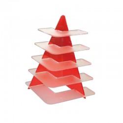Alzata Plexiglass Rossa per Buffet