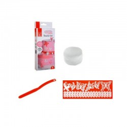 Kit Sweet Lace per Pizzi (spatola, stampo, pasta)