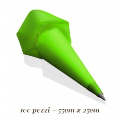 Sacchetti usa e getta Verdi 100 pezzi