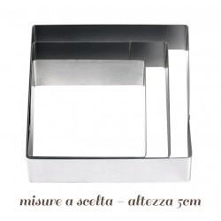 Quadrato in acciaio per torte varie misure