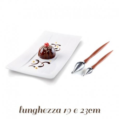 Kit 2 Cucchiai decorativi per glasse e cioccolato