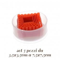 Set Tagliabiscotti Quadrato 5 pz