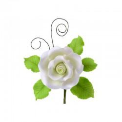 Ramo Rose e foglie in pastigliaggio