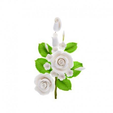 Ramo di Rose e fiori bianchi