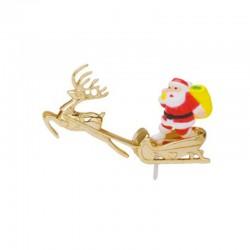 Babbo Natale in Slitta di Plastica