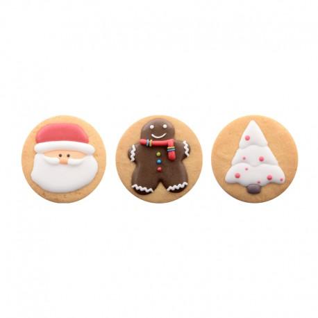 Biscottini natalizi 2d con decorazioni