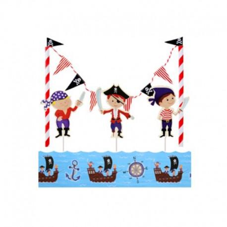 Kit per torte con Topper e bordura Pirati