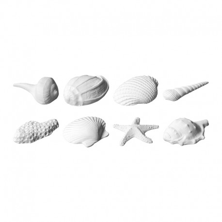 Conchiglie di zucchero pronte set da 8 pezzi