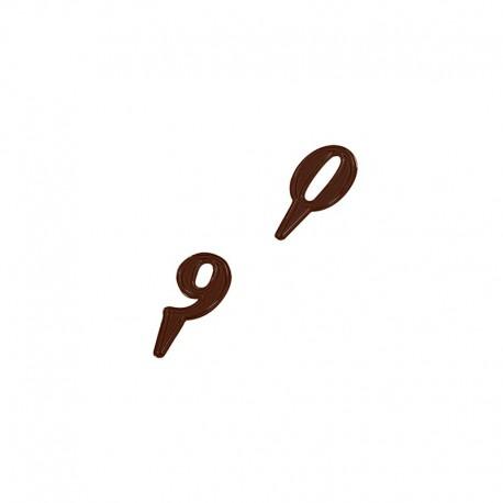 Stampo Numeri di Cioccolato policarbonato