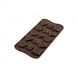 Stampo Silicone Bottoni per cioccolato