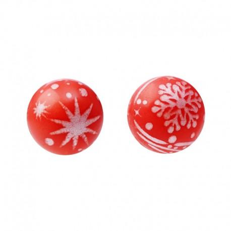 Pallina di Natale Rossa di Cioccolato Bianco