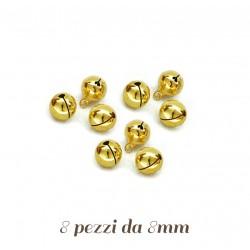 8 Campanelline dorate per Agnellino martorana