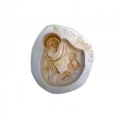 Stampo Maria con Bambino in gesso