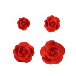 Set di Rose di Zucchero Rosse