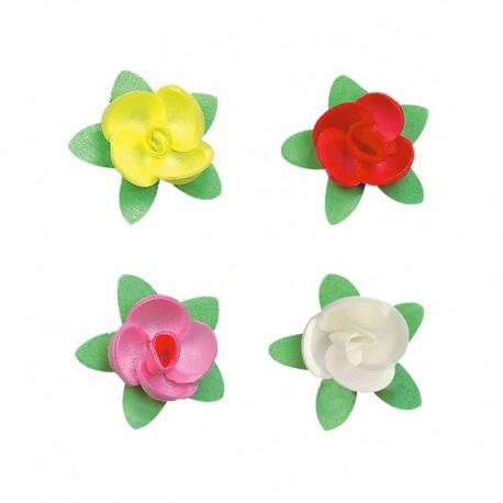 Rose in Zucchero colorate