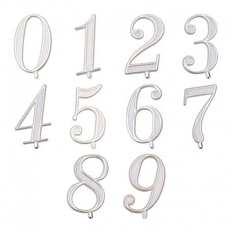 Numeri oro plastica per torte