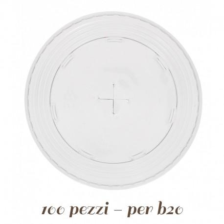 Coperchio di Plastica A Croce per Bicchieri e Coppette