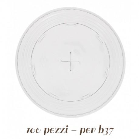Coperchio a Croce Trasparente per Bicchieri
