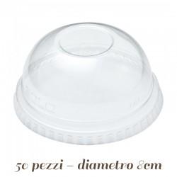 Coperchio in Plastica a Cupola per cannuccia