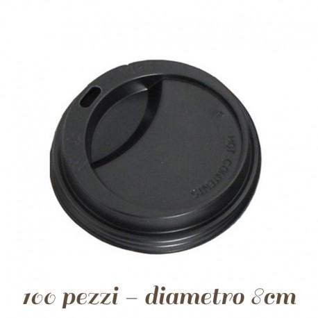 Coperchio in Plastica con Beccuccio per Bicchieri termici