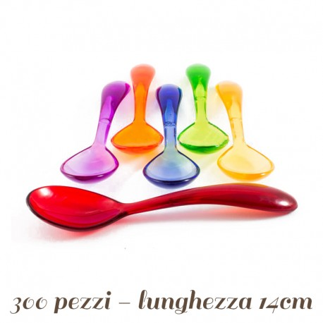 Cucchiaini Palette per Gelato Curvi colorati 14 cm