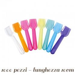 Palette Cucchiaini Gelato Colorate da 10 cm - 1000 pz