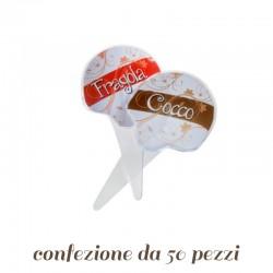 Cartellini interni Segnagusto per gelateria