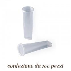100 Stampi per Calippo Ice tube con tappo