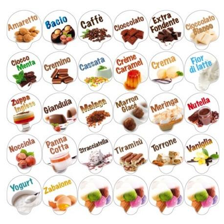 Kit Cartellini in pvc segnagusto 30 pz gusto Frutta