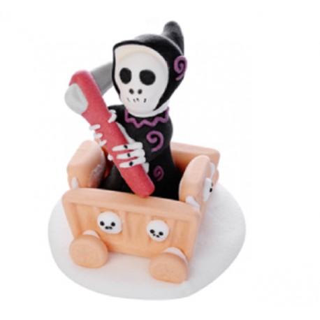 Carretto con morte Halloween decorazione di zucchero