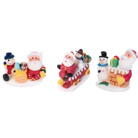 Babbo Natale con base MAXI FORMATO in zucchero 3d
