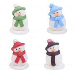 Omino di neve in zucchero 3d vari colori