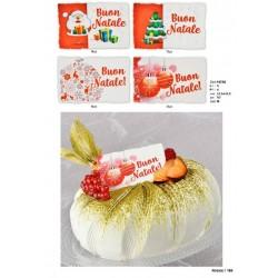 Biglietti di Buon Natale in zucchero per panettoni e pandori