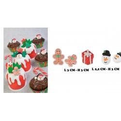 Mix decorazioni di Natale piatte