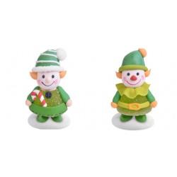 Elfi di gelatina e zucchero 3d per decorazioni torte
