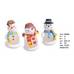 Omino di neve Pupazzetto natalizio 3d