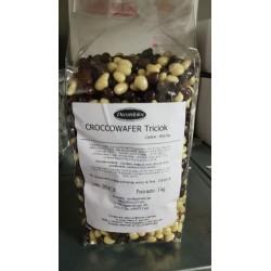 Cioccolato e wafer ai 3 cioccolati fondente latte e bianco