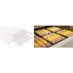 100 pz Blister Vassoio + coperchio per 36 mignon - macaron