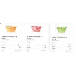 100 Coppette per Gelato joymix a Strisce colorate