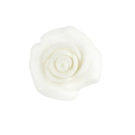 Rosellina pasta di zucchero bianca 3 cm modellabile