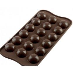 Stampo silicone 18 palloni da Calcio in cioccolato