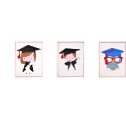 Biglietti per laurea in zucchero L7xH9 cm