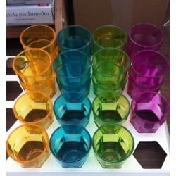 Bicchierini colorati in plastica piccoli per feste buffet