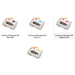 Cartuccia per stampante alimentare A4 Decojet vari colori