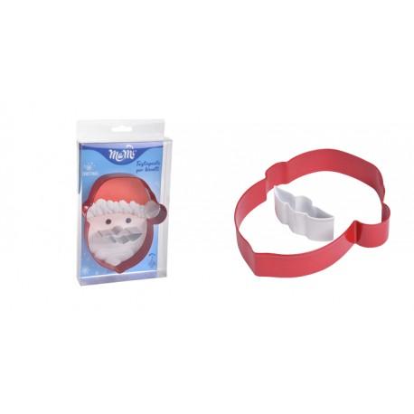 Stampo per biscotti natalizi babbo natale e fiocco