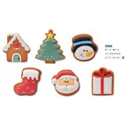 Biscotti di Natale in Panpepato varie forme senza glutine