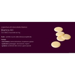 Cioccolato da copertura bianca kg 3 alta qualita' Gioari