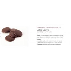 Cioccolato da copertura latte soave kg 3 alta qualita' Gioari