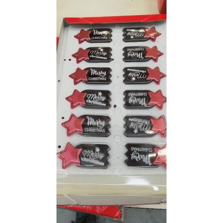 Stelle di natale in cioccolato 48 pz